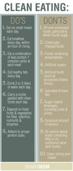 CLEAN EATING: Dos and Don'ts!