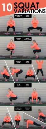 10 different squat variations for you to add into your next workout!