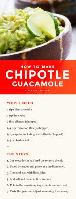 Chipotle Guacamole Recipe!