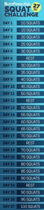BuzzFeed's 27-Day Squat Challenge!