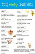 60 Healthy Snack Ideas!